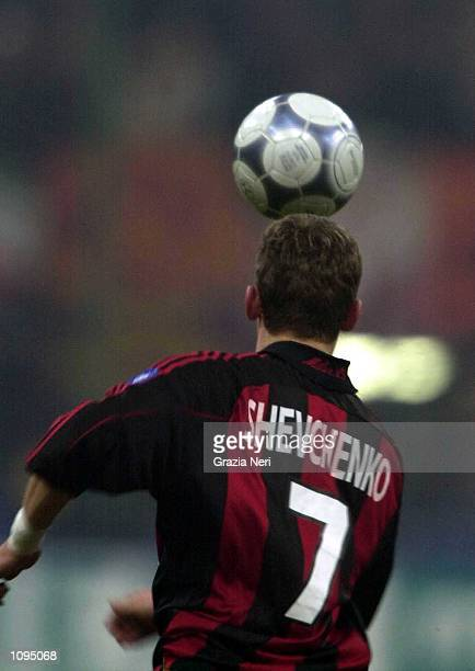 Andriy Shevchenko in action during the Serie A 15th Round League match between AC Milan and Roma played at the San Siro Stadium in Milan Mandatory...