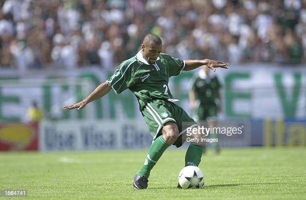 Daniel of Palmeiras in action during the Sao Paulo Cup match between Portuguesa and Palmeiras played at Canind Stadium in Sao Paulo Mandatory Credit...