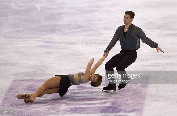 Danielle Hartsell and Steve Hartsell compete in the Pairs Free Skate and captured third place in the Pairs Competition at the 2001 State Farm US...