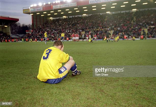 Despair for Colin Luckett of Kingstonian during the AXA sponsored FA Cup 4th round match against Bristol City played at Ashton Gate in Bristol...