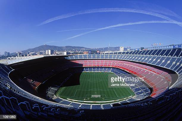 General view of Barcelona Football Club stadium the Nou Camp during a photoshoot held in Barcelona, Spain. \ Mandatory Credit: Jamie McDonald...