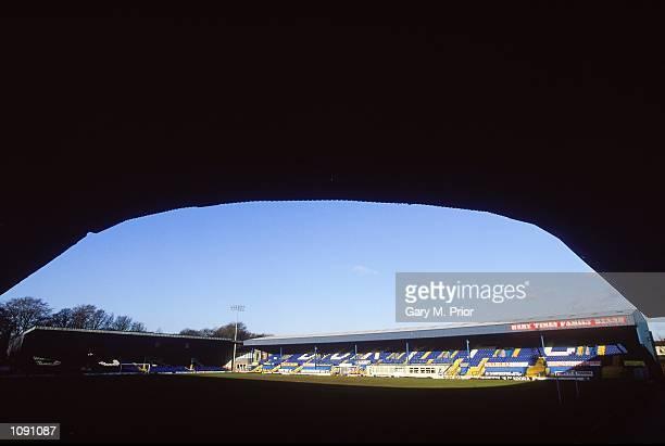 General view of Bury Football Club stadium Gigg Lane during a photoshoot held in Bury England Mandatory Credit Gary M Prior /Allsport