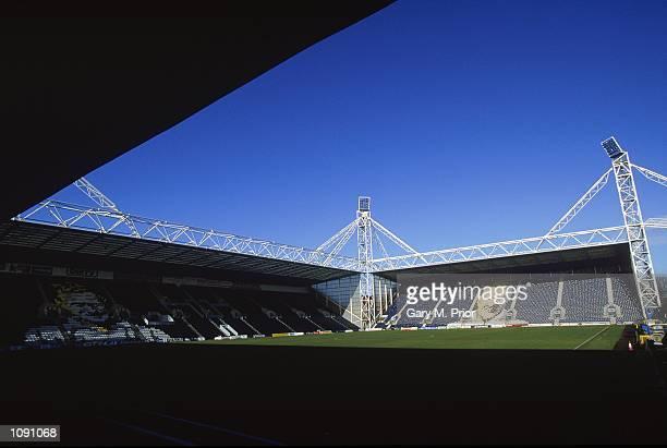 General view of Preston North End Football Club stadium Deepdale during a photoshoot held in Preston England Mandatory Credit Gary M Prior /Allsport