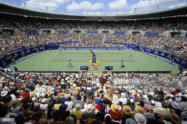 General view of the Sydney International Tennis Centre Court during the Adidas International 2001 Tournament held at the International Tennis Centre...