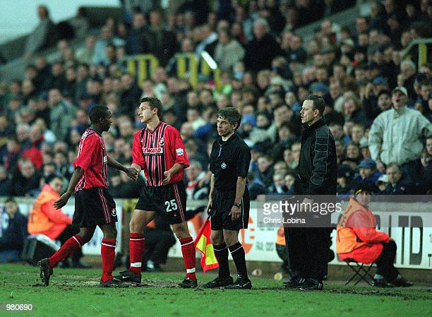 Jermaine Defoe of Bournemouth is substituted by Danny Smith during the Nationwide Division Two match between Millwall and Bournemouth at the New Den...