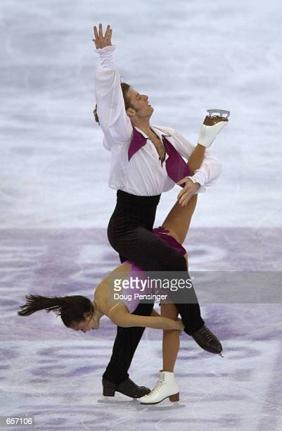 Kyoko Ina and John Zimmerman compete in the Pairs Free Skate and captured first place in the Pairs Competition at the 2001 State Farm US Figure...