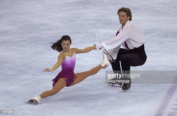 Kyoko Ina and John Zimmerman compete in the Pairs Free Skate and captured first place at the 2001 State Farm US Figure Skating Championships at the...