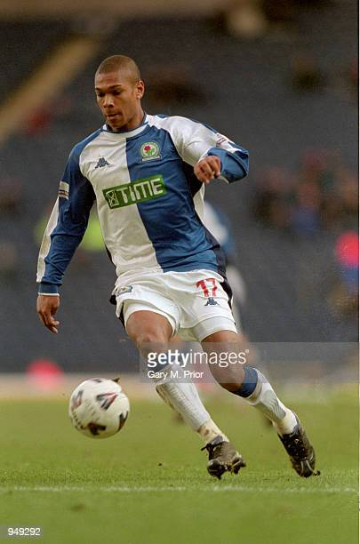 Marcus Bent of Blackburn Rovers in action during the AXA sponsored FA Cup 4th round match against Derby County played at Ewood Park in Blackburn...