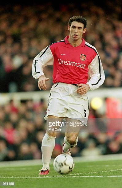 Martin Keown of Arsenal in action during the FA Carling Premiership match against Chelsea played at Highbury in London The match ended in a 11 draw...