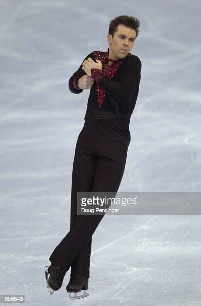 Michael Weiss competes in the Men's Short Program and is currently in first place at the 2001 State Farm US Figure Skating Championships at the Fleet...