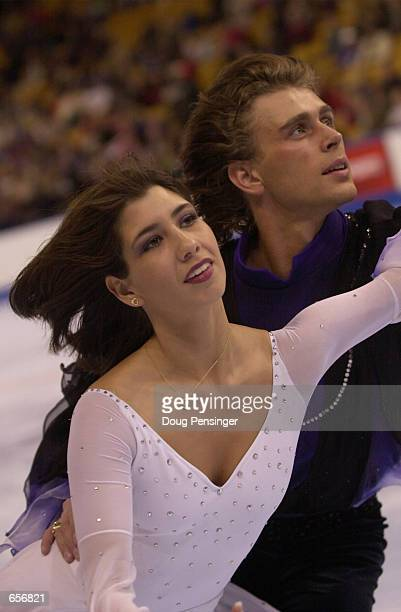Naomi Lang and Peter Tchernyshev compete in the Free Dance and finished in first place in the Championship Dance at the 2001 State Farm U.S. Figure...