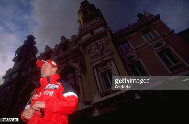 Tommi Makinen of Finland driving the Mitsubishi Lancer EVO VI WRC during the FIA World Rally Championships Monte Carlo Rally in Monte Carlo Monaco...