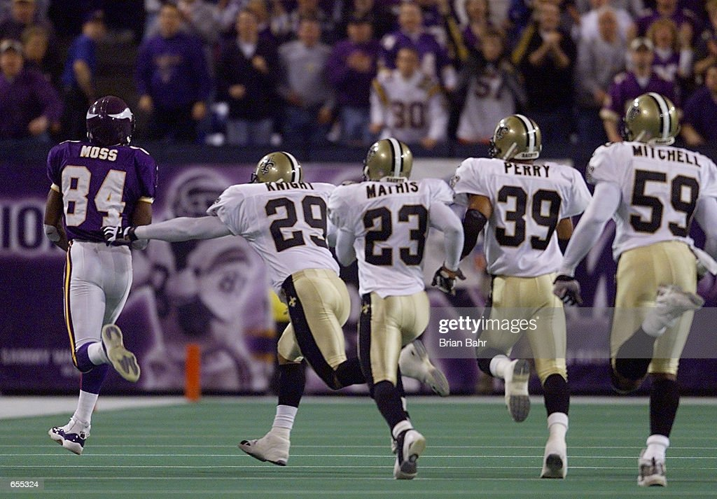 Saints v Vikings X Moss : News Photo