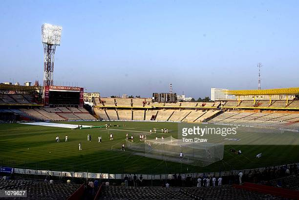 A General View of the ground during the England nets session at Eden Gardens Cricket Stadium Kolkata India DIGITAL IMAGE Mandatory Credit Tom...