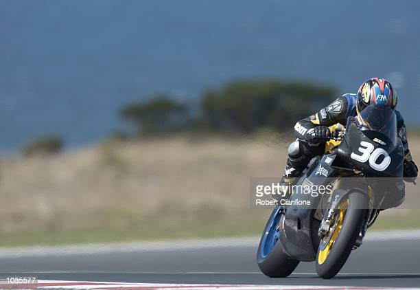 Alessandro Antonello of Italy and the Ducati Race Team in action during the official World Superbike testing session held at the held at the Phillip...