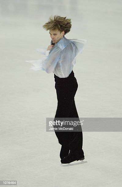 Alexander Abt of Russia during the Mens qualifier during the European Figure Skating Championships at the Centre de Glace de Malley Lausanne...