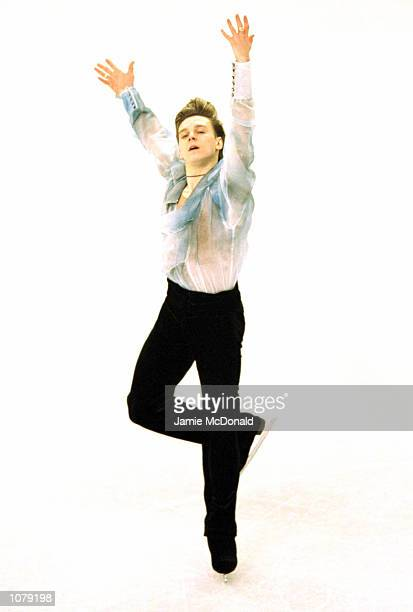 Alexander Abt of Russia wins Silver in the Mens Free Skate during the European Figure Skating Championships at the Centre de Glace de Malley Lausanne...
