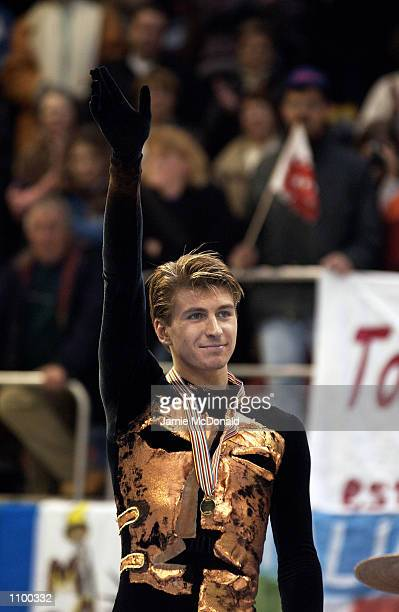 Alexei Yagudin of Russia wins Gold medal in the Mens Free Skate during the European Figure Skating Championships at the Centre de Glace de Malley...