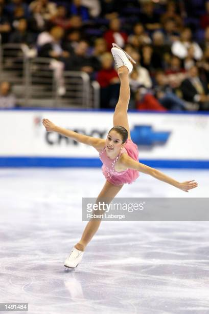 Alissa Czisny of the USA compete in the ladies short program during the State Farm U.S. Figure Skating Championships at the Staples Center in Los...