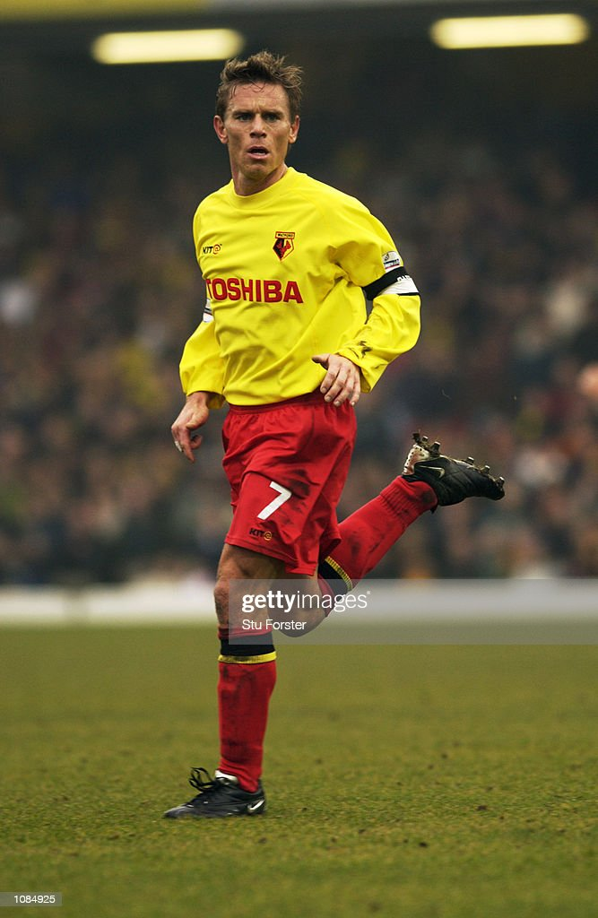 Allan Nielsen of Watford in action during the AXA sponsored FA Cup third round match against Arsenal played at Vicarage Road, in Watford, England. Arsenal won the match 4-2. DIGITAL IMAGE. Mandatory Credit: Stu Forster/Getty Images