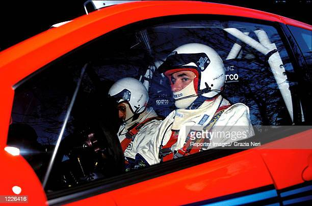 Carlos Sainz in his Ford Focus during the Monte Carlo Rally the first race of the World Rally Championship DIGITAL IMAGE Mandatory Credit Grazia...