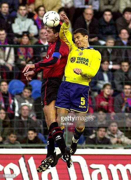 Constantin Galca of Villarreal in action during the Primera Liga match between Osasuna and Villarreal played at El Sadar Stadium Osasuna DIGITAL...