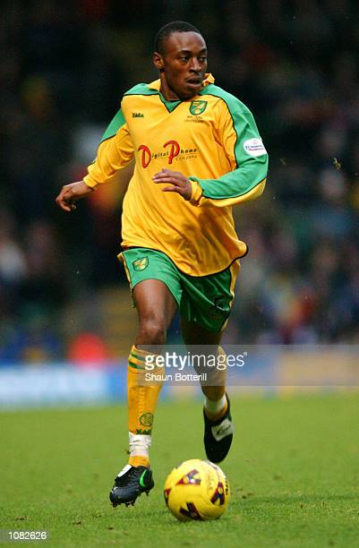 Darren Kenton of Norwich City runs with the ball during the Nationwide League Division One match against Millwall played at Carrow Road in Norwich...