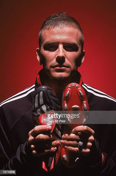 David Beckham takes delivery of his brand new adidas Predator Mania boots which he will wear against Holland in Amsterdam on February 13th Mandatory...