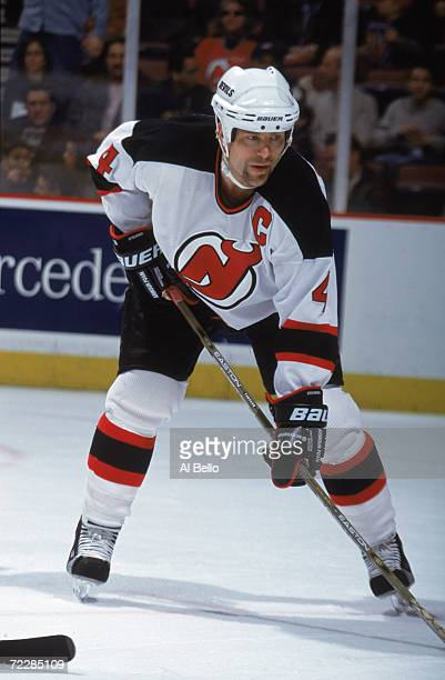 Defenseman Scott Stevens of the New Jersey Devils waits for the face off  during the NHL 612c21096