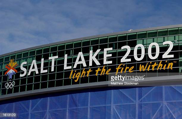 Exterior of RiceEccles Stadium site of the opening and closing ceremony of the 2002 Winter Olympic Games in Salt Lake City Utah DIGITAL IMAGE...