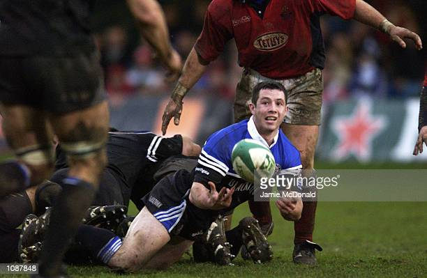 Gareth Cooper of Bath during the Heineken Cup quarter final game between Bath and Llanelli at the Recreation Ground in Bath DIGITAL IMAGE Mandatory...