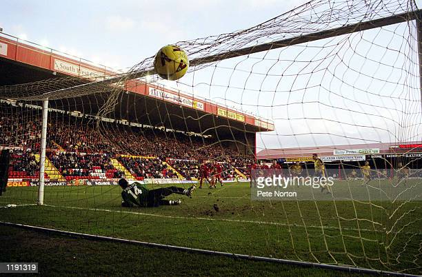 Jamie Forrester of Northampton Town opens the goalscoring from the penalty spot during the Nationwide League Division Two match between Bristol City...