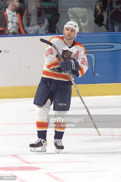 Jason Wiemer of the Florida Panthers prepares for play against the Dallas Stars during the game at the National Car Rental Center in Miami Sunrise...