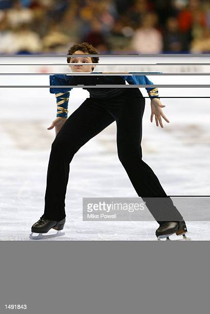 Johnny Weir of the USA competes in the men's free program during the State Farm U.S. Figure Skating Championships at the Staples Center in Los...