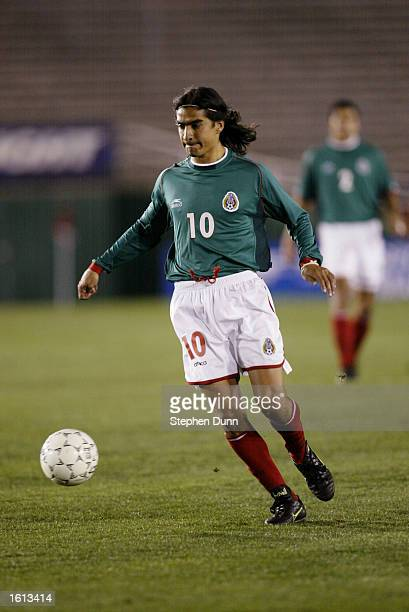 Marco Garces of Mexico controls the ball in their first round CONCACAF Gold Cup match at the Rose Bowl in Pasadena California Mexico defeated...