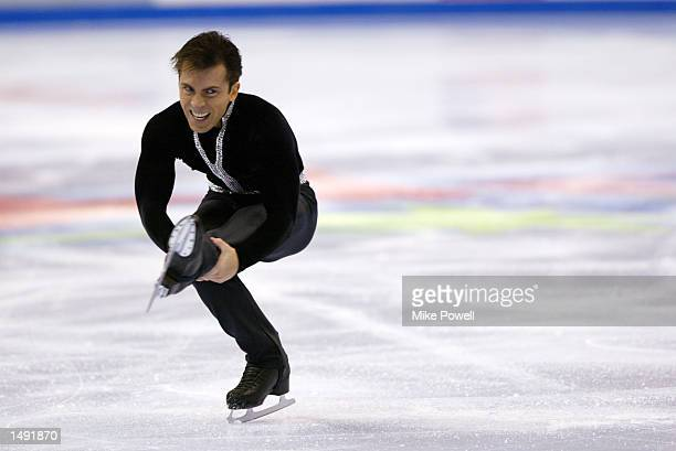 Michael Weiss of the USA competes in the men's free program during the State Farm US Figure Skating Championships at the Staples Center in Los...