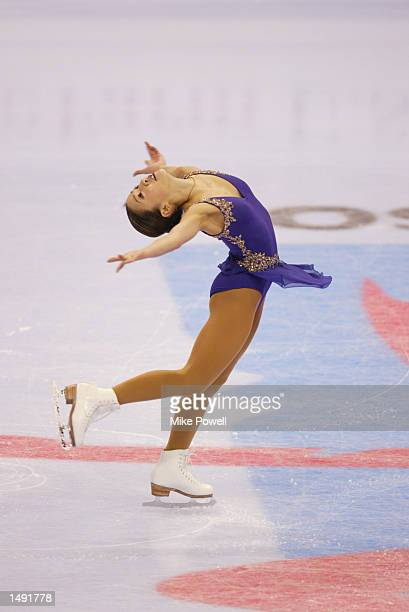 Michelle Kwan of the USA competes in the ladies short program for a spot on the US Olympic figure skating team during the State Farm US Figure...