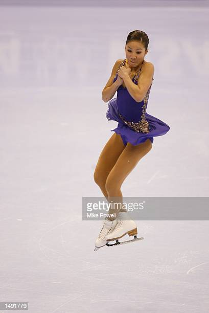 Michelle Kwan of the USA competes in the ladies short program for a spot on the US Olympic figure skating team during the State Farm U.S. Figure...