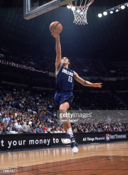 Point guard Steve Nash of the Dallas Mavericks shoots a layup during the NBA game against the Memphis Grizzlies at the Pyramid Arena in Memphis...