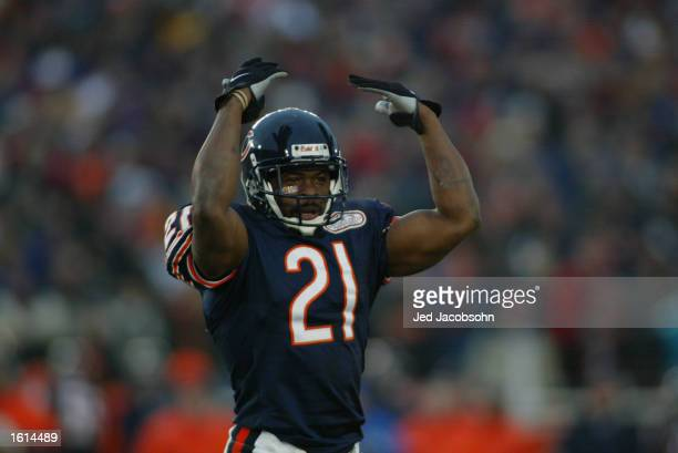 McQuarters of the Chicago Bears excites the crowd during the NFC Divisional Playoff against the Philadelphia Eagles at Soldier Field in Chicago,...