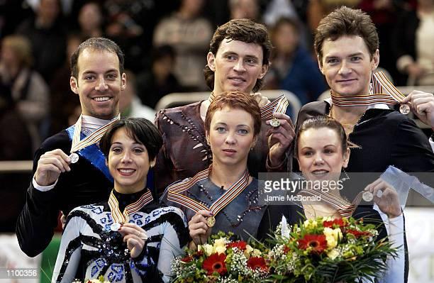 Tatiana Totmianina and Maxim Marinin of Russia win Gold Sarah Abitbol and Stephane Bernadis of France win Silver and Maria Petrova and Alexei...