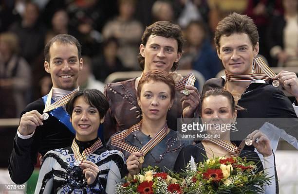 Tatiana Totmianina and Maxim Marinin of Russia win GoldSarah Abitbol and Stephane Bernadis of France win Silver and Maria Petrova and Alexei Tikhonov...