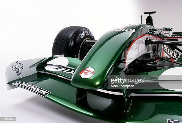 The new Jaguar R3 Formula One Grand Prix Car pictured prior to its launch at Jaguar Headquarters in Milton Keynes, England. \ Mandatory Credit: Mark...