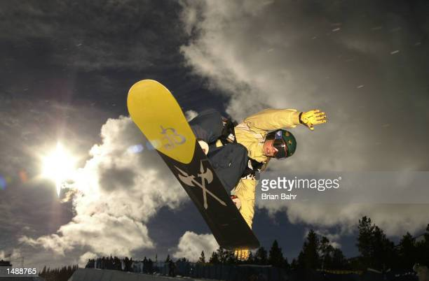 Torah Jane Bright of the USA finds the sky from the halfpipe during the qualifying round of the US Snowboard Grand Prix in Breckenridge Colorado...