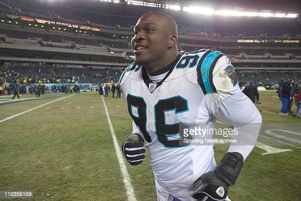 Brentson Buckner of the Carolina Panthers during the Panthers 143 victory over the Philadlephia Eagles in the NFC Championship Game at Lincoln...