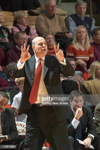Head coach Seth Greenberg of the Virginia Tech Hokies during the Hokies 9660 loss to the UCONN Huskies at the Cassell Coliseum in Blacksburg VA