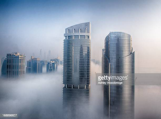 CONTENT] Jan 2013 JLT and Dubai Marina from the 32th floor Thick flog and low level cloud cover the area which is common in winter The towers line...