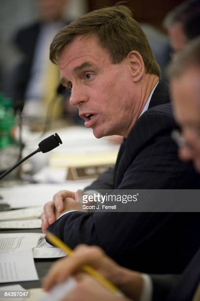 Sen Mark Warner DVa during the Senate Commerce nomination hearing of Transportation Secretary designee and former Rep Ray LaHood RIll Chairman John D...