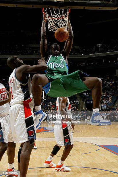 Jan 23 2008 Charlotte North Carolina USA The Dallas Mavericks DESAGANA DIOP against the Charlotte Bobcats at the Charlotte Bobcats Arena The Dallas...