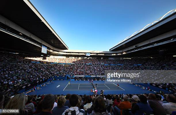 Jan 23 2010 Melbourne Victoria Australia Records crowds turned out for the Lleyton Hewitt vs Marcos Baghdatis third round match at Rod Laver Arena...